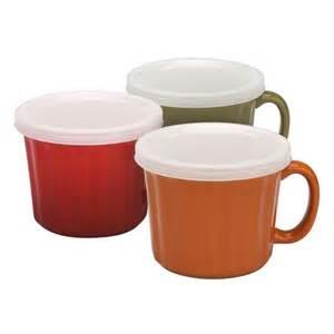 Harvest Ceramic 16 oz Soup Mug with Lid: Shopko