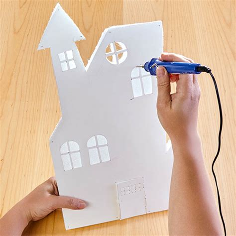 How Do You Make A Paper House - paper haunted house craft crafts jo