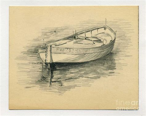 jon boat drawing rowing boat drawing by john chatterley