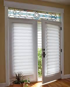 Patio Door Film French Door Blinds Amp Shades Vignette 174 Roman Shades On A