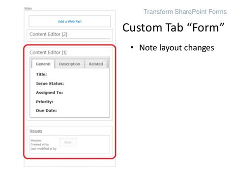 html css tab layout transform sharepoint list forms with html and css