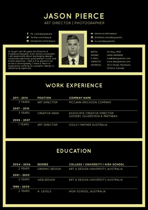 Resume Templates Design Professionals free black resume cv design template for