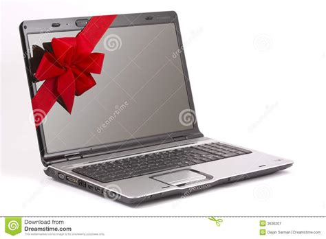 Laptop Or Desk Top by Laptop Gift Royalty Free Stock Photography
