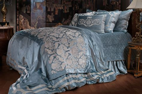 lili alessandra bedding lili alessandra versailles bedding ice blue velvet with