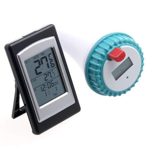 horloge digitale thermom 232 tre piscine horloge digitale capteur ext 233 rieur sans fil ebay