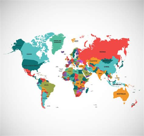 world map ai file free world map colored vector vector maps free