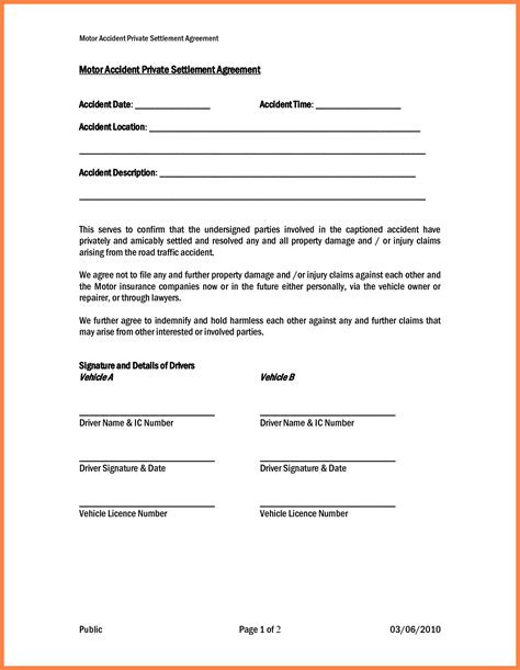 Release Settlement Letter 4 Settlement Agreement And Release Marital Settlements Information