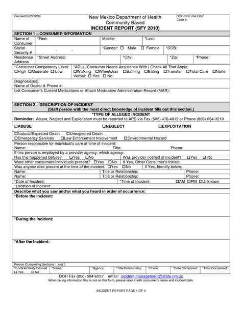 blank incident report form template best photos of blank report forms sle blank