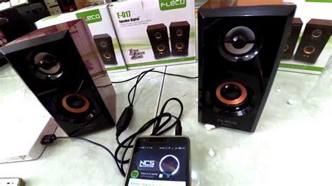 Speaker Mini Fleco F 017 speaker digital fleco f 017 unboxing and testing in bahasa
