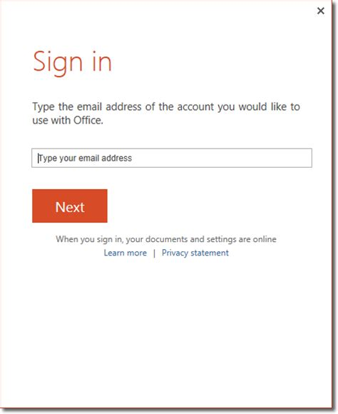 Microsoft Powerpoint Sign In Connecting Powerpoint 2013 To Skydrive Microsoft