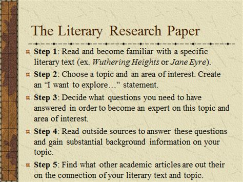 literary analysis research paper achimore academics april 2015