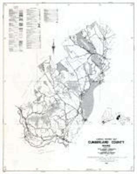 cumberland county section 8 maine state atlas 1961 to 1964 highway maps maine
