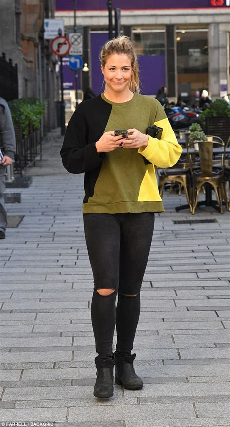 33 year old fashion for business dinner strictly s gemma atkinson enjoys lunch with gorka marquez