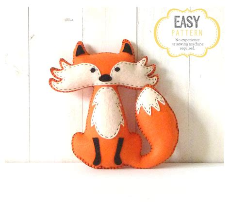 pattern for felt animals felt fox pattern