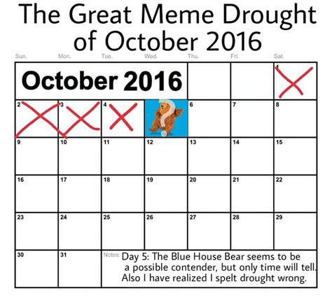 Meme Calendar 2016 - bear in the big blue house know your meme