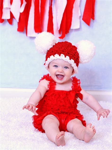 santa hat for babies baby hat 6 to 9 month baby santa hat baby hat