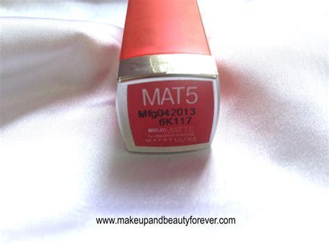all maybelline bold matte colorsensational lipsticks maybelline bold matte colorsensational lipstick mat 5 bold
