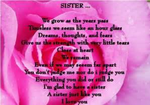 I Love You Sister Quotes by Gallery For Gt I Love You Sister Poems And Quotes