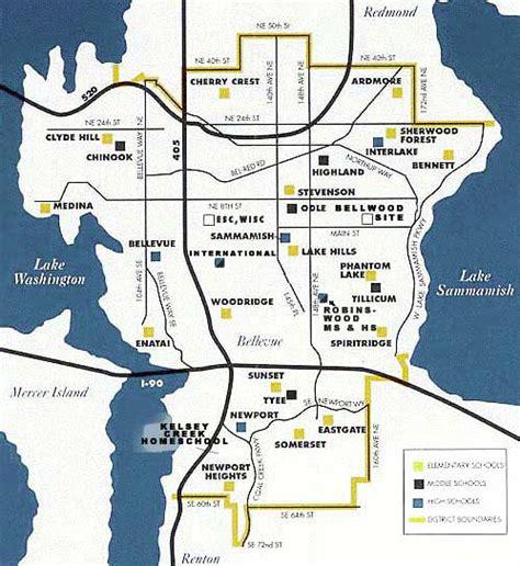 seattle map kent bellevue schools