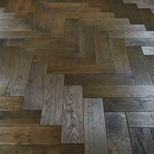 rustic dark parquet stained and woca oiled solid wood