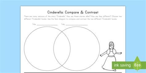 cinderella venn diagram cinderella compare and contrast worksheet activity sheet