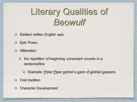 literary themes of beowulf beowulf p ppt download