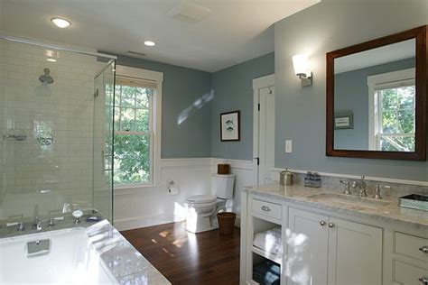 bathroom paint blue inexpensive bathroom makeover ideas