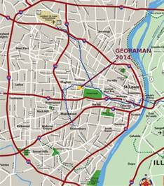st louis on a map of the united states georaman 2014 11th in st louis mo usa