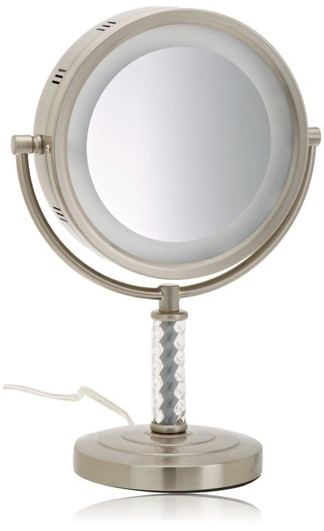 lighted makeup mirror amazon amazon com jerdon hl856mnc 8 inch halo lighted vanity