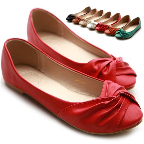 colored flats ollio womens ballet flats loafers comfort bowed multi