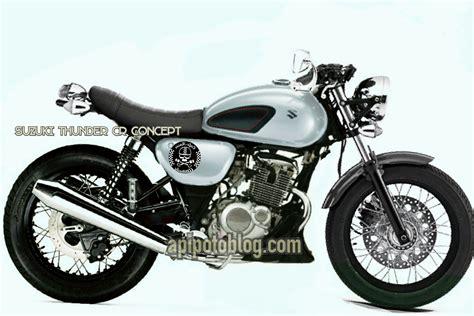 Cool Setater Suzuki Thunder modifikasi suzuki thunder 125 cafe racer concept apipotoblog