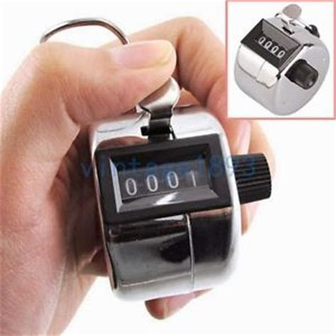 counting device with manual metal counter the flow of mechanical