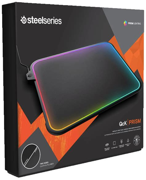 Mousepad Steelseries Qck Prism Rgb steelseries launches qck prism dual surface rgb illuminated premium gaming mousepad