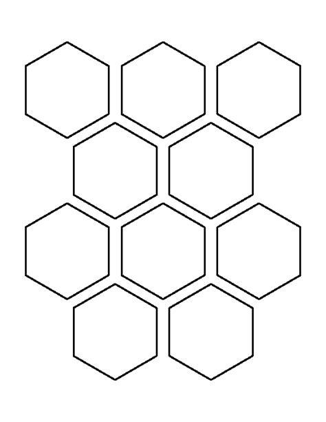 printable 2 5 hexagon template