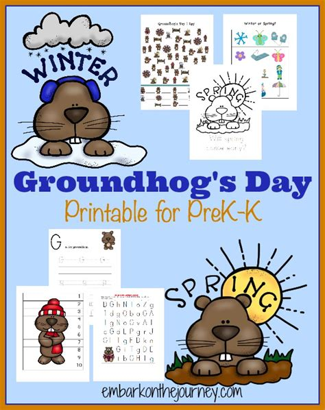 groundhog day kindergarten activities groundhog s day printable for prek k