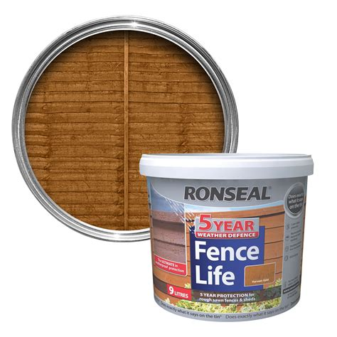 ronseal  year harvest gold matt shed fence stain