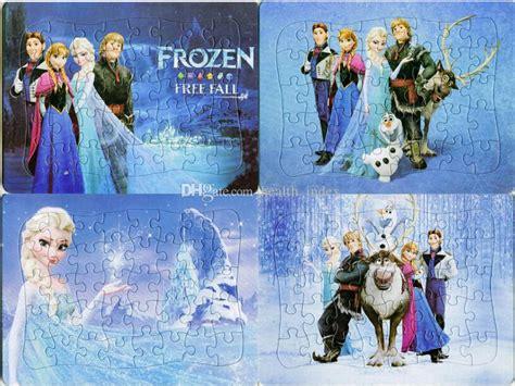 Jigsaw Puzzle Frozen Olaf 100pcs 2017 frozen princess elsa olaf real jigsaw puzzle puzzle children s educational