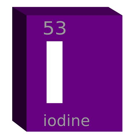 Iodine Periodic Table by Clipart Iodine I Block Chemistry