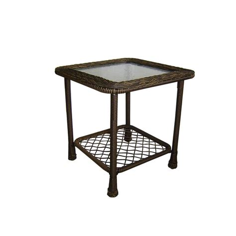 Patio Table Lowes Shop Garden Treasures Severson Square End Table At Lowes Outdoor Wishes