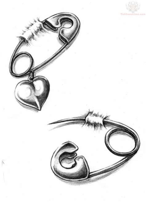 safety pin tattoos designs 60 most amazing safety pin tattoos golfian