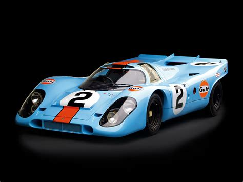 1970 Porsche 917 Race Car Spercar Germany Racing Gulf Le