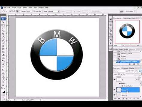 tutorial logo bmw bmw logo photoshop youtube
