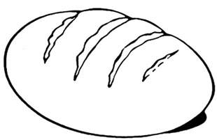 Bread Coloring Page Eat Pages sketch template