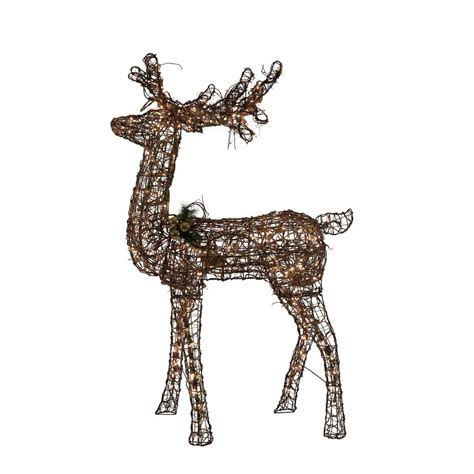 grapevine animated lighted deer home accents 60 in grapevine standing deer with animation ebay