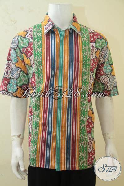 Baju Batik Pria Cap Tulis Size Xl Ct3586ld hem batik motif unik size xl baju batik cap tulis modern warna cerah cocok buat pria dewasa