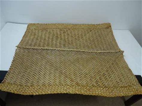 woven large weave mat whariki maori