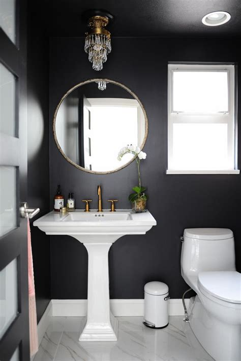 room with black walls best 25 black bathrooms ideas on black powder