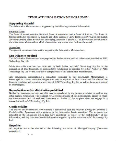 info memo template 8 memorandum sle exles in word pdf