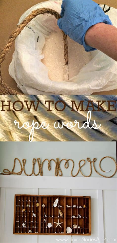 learn how to decorate your home learn how to easily make rope words customize it for your