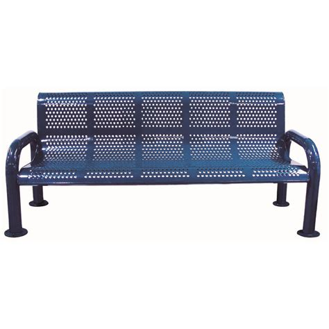 metal bench with back 6 perforated metal bench with back u leg childforms